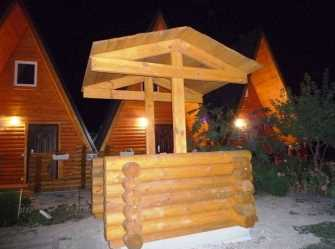 Отдых в деревянных домиках частный сектор в Должанской